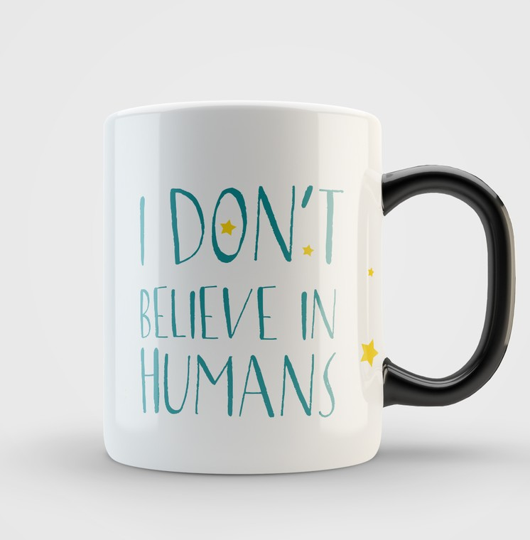Кружка Dont Believe in Humans (blue)