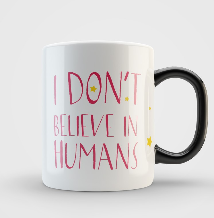 Кружка Dont Believe in Humans (pink)
